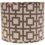 Gray Modern Square 14x14x11 Drum Shade (Spider)