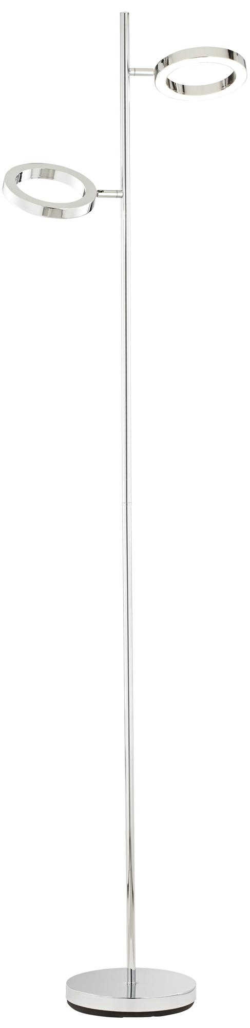Possini Euro Gillette 2-Light Chrome LED Floor Lamp (6V531)