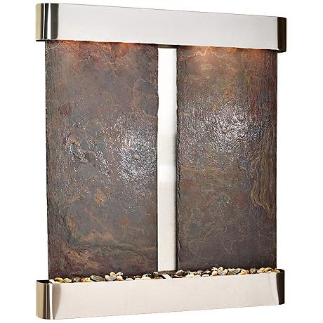 Cottonwood Falls Round Steel Multicolor Wall Fountain