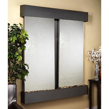 Cottonwood Falls Mirror Blackened Copper Wall Fountain