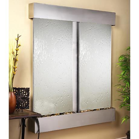 Cottonwood Falls Stainless Steel Mirrored Wall Fountain