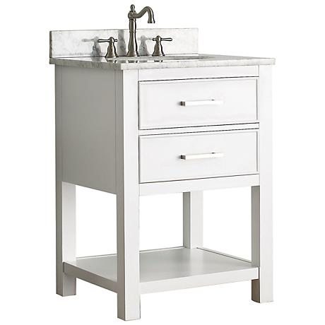 "Avanity Brooks 24"" White Top White Single Sink Vanity"
