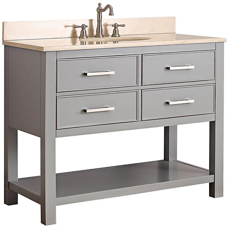 "Avanity Brooks 42"" Beige Top Gray Single Sink Vanity"
