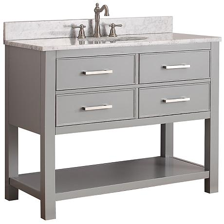 Avanity Brooks 42 Quot White Top Gray Single Sink Vanity