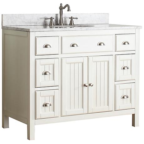 "Avanity Hamilton 42"" White Top French White Vanity"