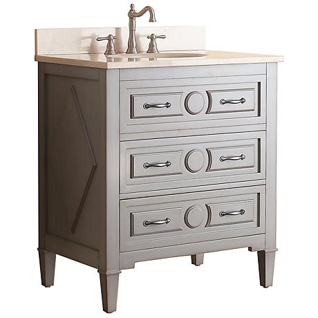"Avanity Kelly 30"" Beige Top Grayish Blue Single Sink Vanity"