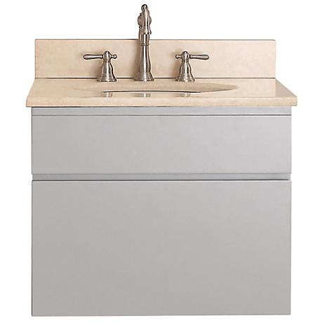 "Avanity Tribeca 24"" Beige Top Gray Wall Mount Vanity"