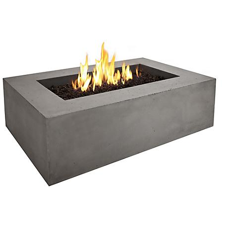 Real Flame Baltic Rectangle Gray Natural Gas Fire Table