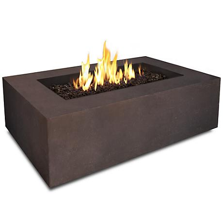 Baltic Rectangle Brown Natural Gas Fire Table