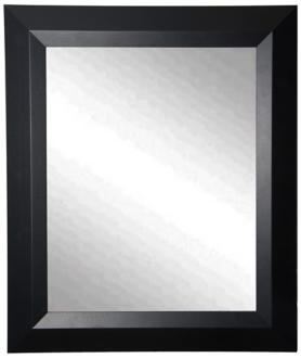 "Larose Solid Black Angle 29 1/2"" x 35 1/2"" Wall Mirror (6X157) 6X157"