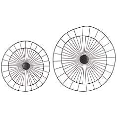 Wire Pin Wheels Wall Art Set of 2