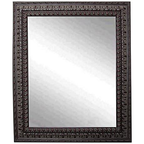 "Redding Dark Mahogany 26 1/2"" x 32 1/2"" Wall Mirror"