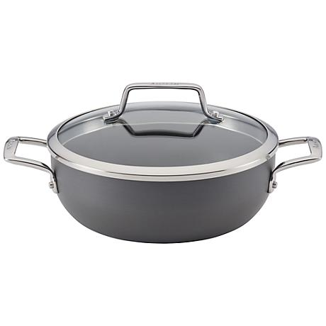 Anolon Nonstick Gray 3 1/2-Quart Covered Casserole