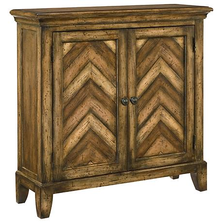 Hammary Hidden Treasures Chevron 2-Door Accent Chest