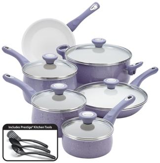 Farberware Speckled Lavender 14-Piece Cookware Set (6Y146) 6Y146