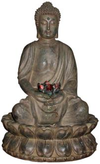 "Stone Buddha LED 19"" High Tabletop Fountain (6Y274) 6Y274"