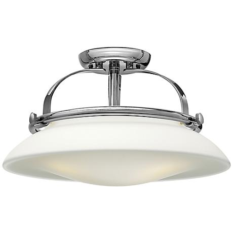 "Hinkley Hutton 16 1/2"" Wide Chrome Ceiling Light"