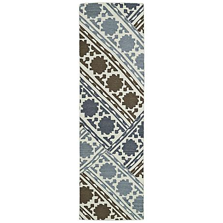 Kaleen Glam GLA02-49 Flatweave Gray and Brown Wool Area Rug