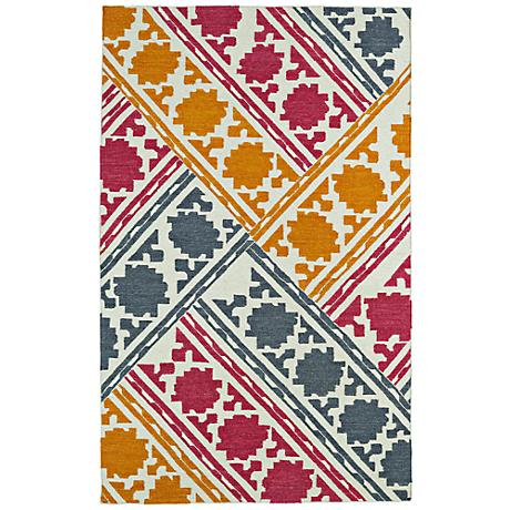 Kaleen Glam GLA02-86 Flatweave Multi-Color Wool Area Rug