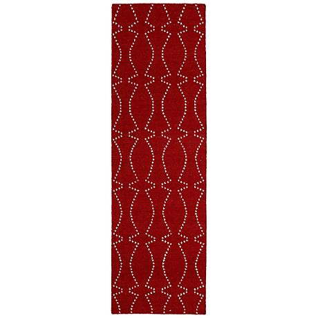 Kaleen Glam GLA07-25 Deep Red Flatweave Wool Area Rug