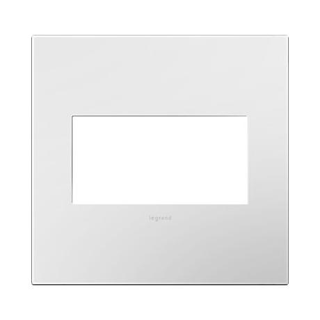 adorne® Gloss White 2-Gang Snap-On Wall Plate