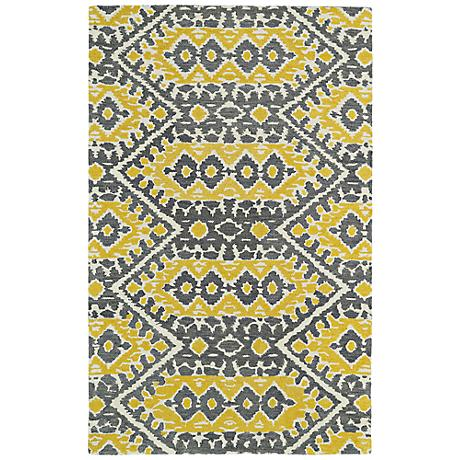 Kaleen Global Inspirations GLB01-28 Yellow Wool Rug