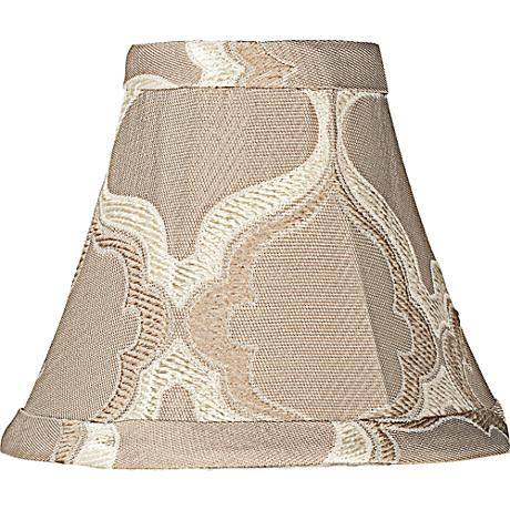 Tan Moroccan Embroidered Bell Shade 3x6x5 (Clip-On)