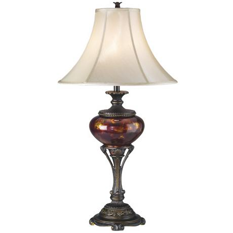 Tortoise Shell Urn Table Lamp