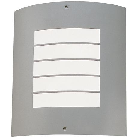 "Kichler Newport 10 1/4"" High Nickel Outdoor Wall Light"