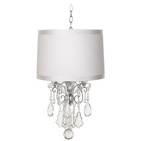Belle of the Ball Off-White Designer Shade Mini Chandelier