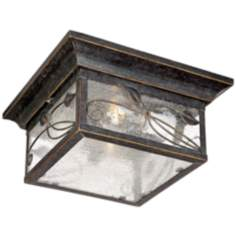 "French Garden 5 1/2"" High Indoor - Outdoor Flushmount Light"