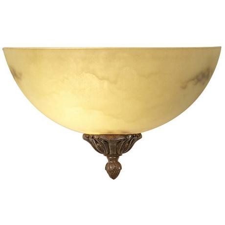 "Alabaster Glass Traditional  12"" Wide Wall Sconce"