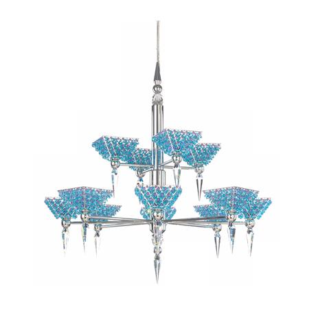 Schonbek Vertex Two Tier Spectra Crystal Chandelier