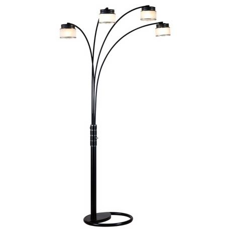 Nova Four Light  Arc Floor Lamp