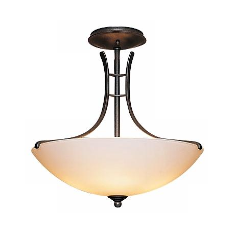 "Hubbardton Forge 17"" Wide Presidio Ceiling Light Fixture"