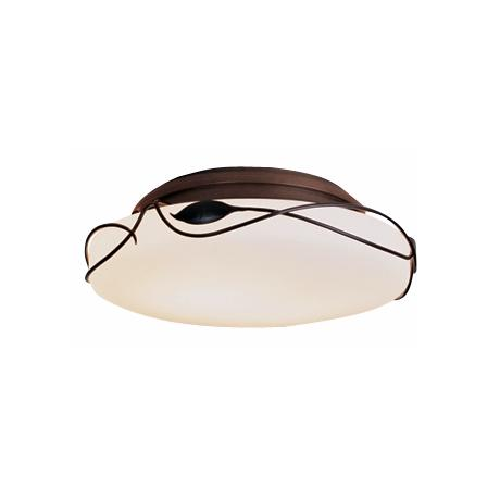 "Hubbardton Forge Dark Smoke 13 3/4"" Wide Ceiling Light"