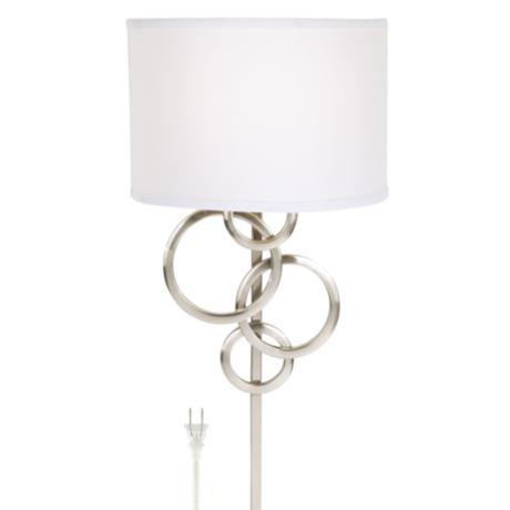 Wall Sconces With Plug In Cords : Possini Euro Design Circles Plug-In Wall Sconce - #70954 LampsPlus.com