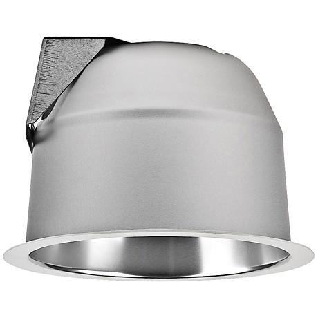 "Lightolier 7 3/8"" White Flange Clear Alzak Recessed Trim"