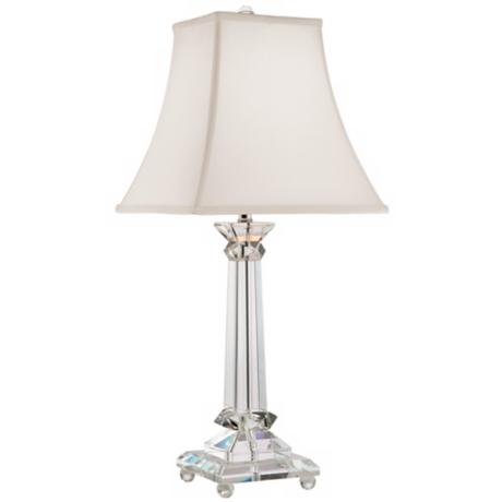 Vienna Full Spectrum Crystal Tapered Column Table Lamp