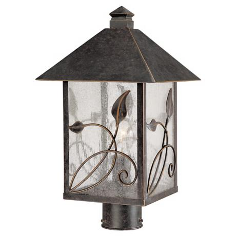 "French Garden Collection 17"" High Outdoor Post Light"