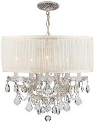 Brentwood Collection Chrome 6-Light Crystal Chandelier