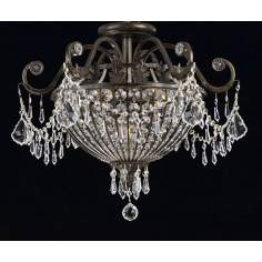 Victorian, Semi Flush Mount Close To Ceiling Lights By LampsPlus.