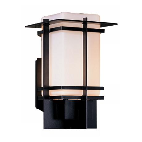 "Hubbardton Forge Tourou Smoke 14"" High Outdoor Wall Light"