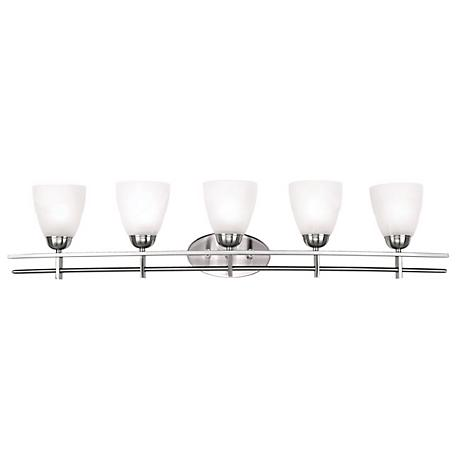 "Possini Euro Deco Nickel Collection 41 1/4"" Wide Bath Light"