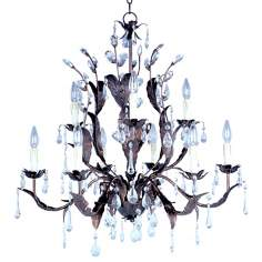 Grove Collection Romantic Nine Light Chandelier