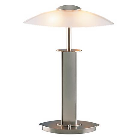 Holtkoetter Satin Nickel Finish Halogen Desk Lamp