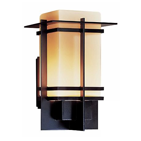 "Hubbardton Forge Tourou  Smoke 17"" High Outdoor Wall Light"