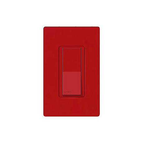 Lutron Diva Hot Red SC Single Pole Switch