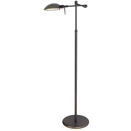 Old Bronze Swing Arm Pharmacy Holtkoetter Floor Lamp