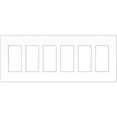 Lutron Claro 6 Gang Screwless Faceplate